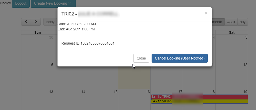 Graphical Calendar Interface to Booking using Alma API - Ex Libris