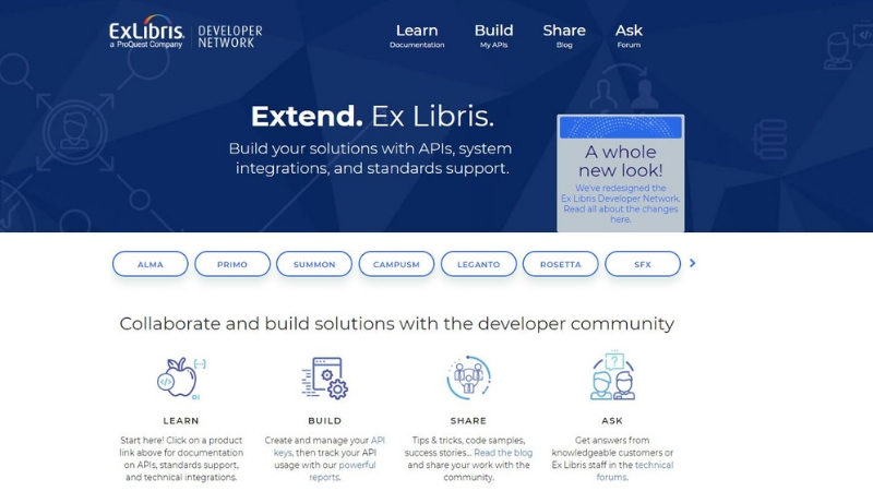 Ex Libris Developer Network: Learn, Build, Share | Ex Libris