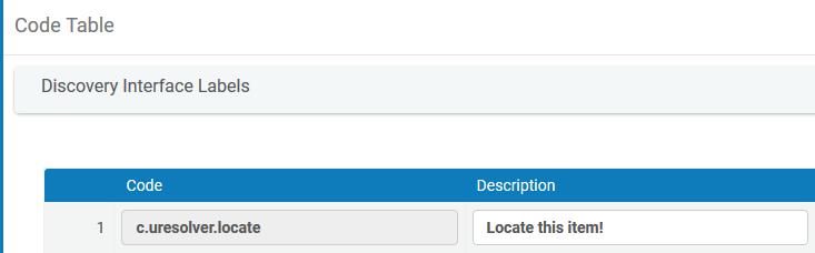 Alma Code Labels settings